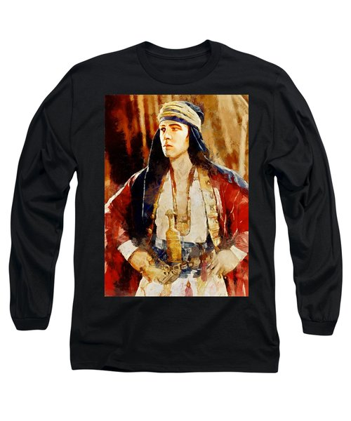 Rudolph Valentino As The Sheikh Long Sleeve T-Shirt