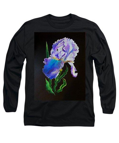Ruffled Iris Long Sleeve T-Shirt