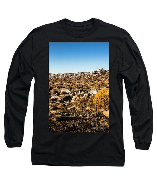 Rugged Mountain Town Long Sleeve T-Shirt