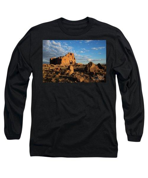 Ruins Of Yereruyk Temple Under Amazing Cloudscape, Armenia Long Sleeve T-Shirt by Gurgen Bakhshetsyan