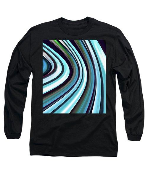 Long Sleeve T-Shirt featuring the digital art Running Blue by Wendy J St Christopher
