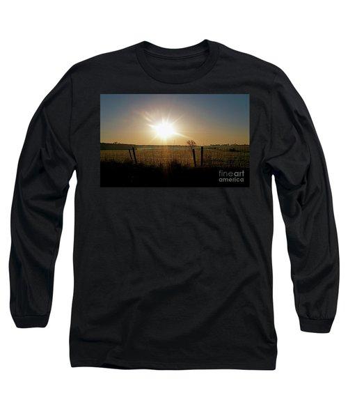 Rural Sunrise Long Sleeve T-Shirt by Sue Stefanowicz
