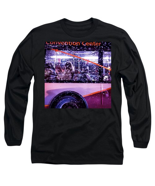 Rush Hour On A Rainy Monday Evening In Long Sleeve T-Shirt
