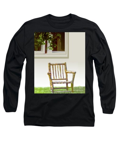 Rustic Wooden Rocking Chair Long Sleeve T-Shirt