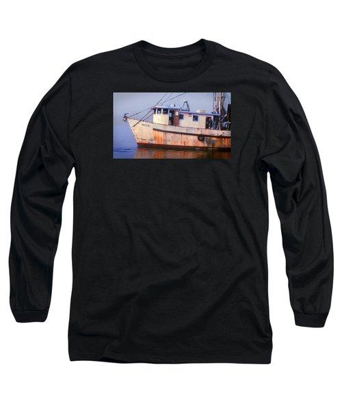 Rusty II And Crew Long Sleeve T-Shirt by Laura Ragland