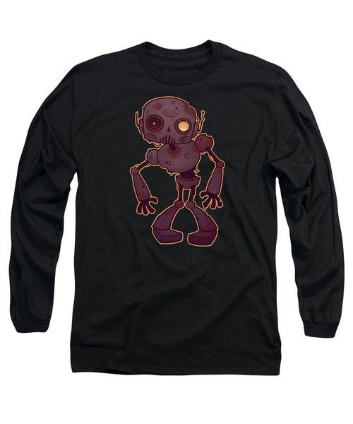 Rusty Zombie Robot Long Sleeve T-Shirt