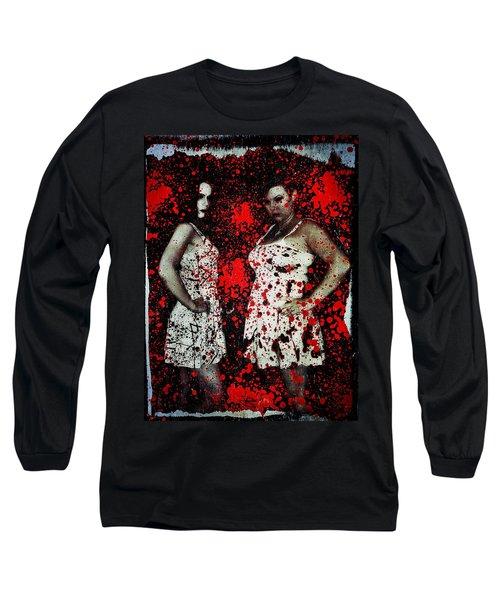 Ryli And Corinne 2 Long Sleeve T-Shirt by Mark Baranowski