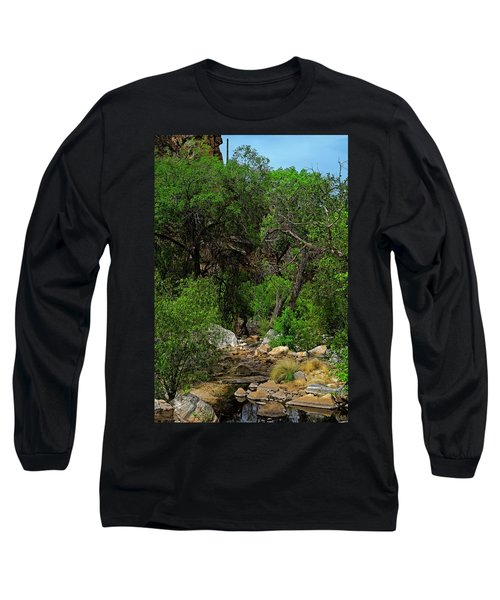 Long Sleeve T-Shirt featuring the photograph Sabino Canyon V49 by Mark Myhaver