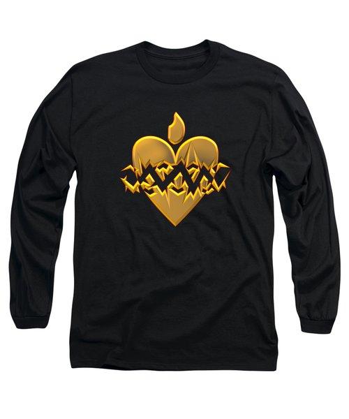 Sacred Heart Of Jesus Digital Art Long Sleeve T-Shirt
