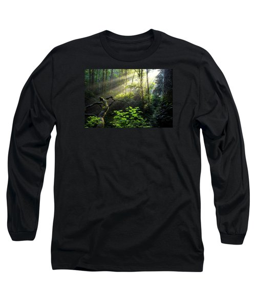 Sacred Light Long Sleeve T-Shirt by Chad Dutson