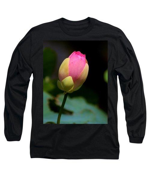 Sacred Lotus Bud 3 Long Sleeve T-Shirt