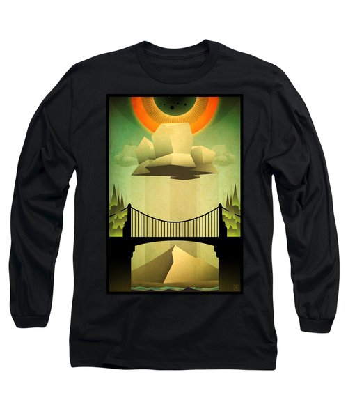 Long Sleeve T-Shirt featuring the mixed media Sacred Sun Shower by Milton Thompson