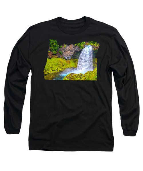 Sahalie Falls Oregon Long Sleeve T-Shirt