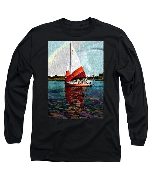 Sail Along On The Sea Long Sleeve T-Shirt by Vickie G Buccini