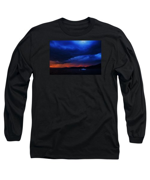 Long Sleeve T-Shirt featuring the photograph Sailboat In Thunderstorm by Sean Sarsfield