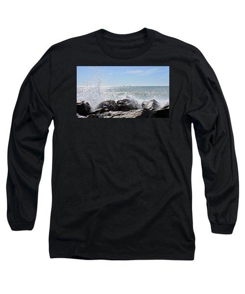 Sailboats And Surf Long Sleeve T-Shirt