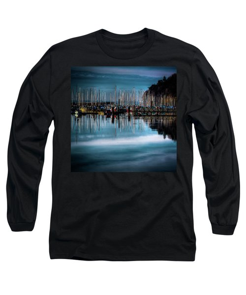 Sailboats At Sunset Long Sleeve T-Shirt by David Patterson