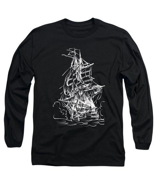 Long Sleeve T-Shirt featuring the painting Sailing 2  by Andrzej Szczerski