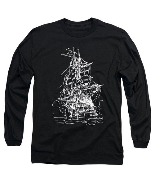 Sailing 2  Long Sleeve T-Shirt by Andrzej Szczerski