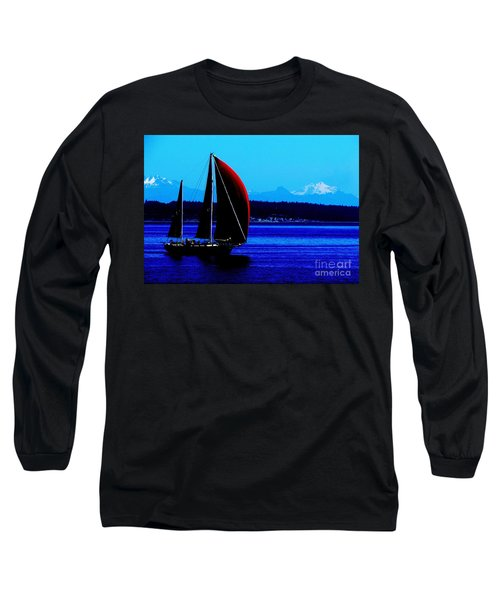 Sailing At Port Townsend Washington State Long Sleeve T-Shirt