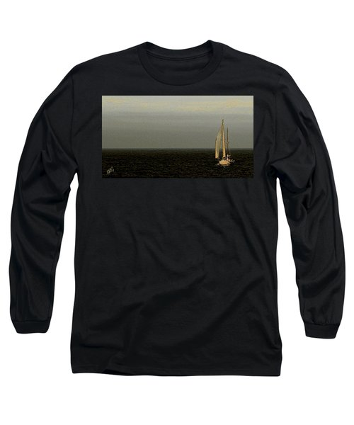 Long Sleeve T-Shirt featuring the photograph Sailing by Ben and Raisa Gertsberg