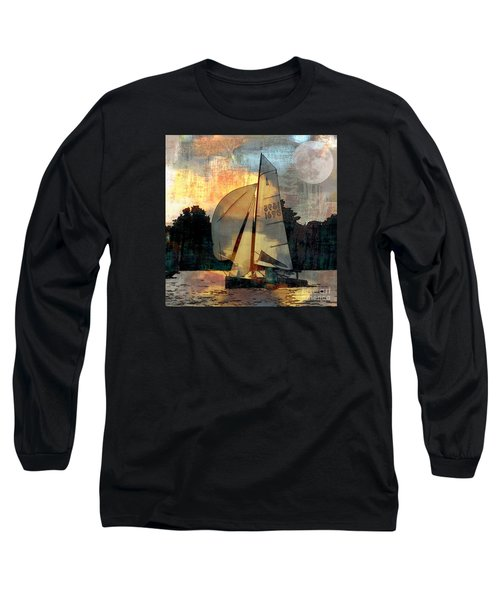 Sailing Into The Sunset Long Sleeve T-Shirt by LemonArt Photography