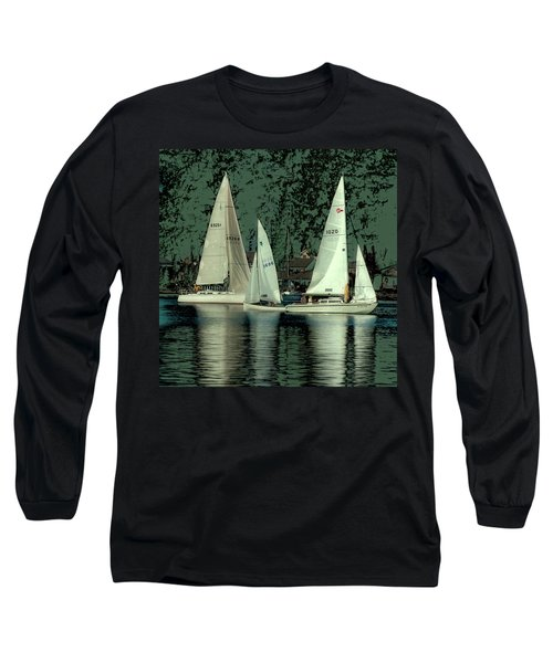 Long Sleeve T-Shirt featuring the photograph Sailing Reflections by David Patterson