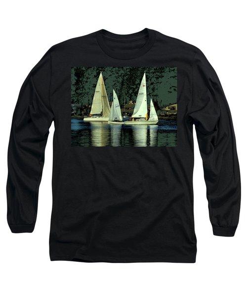 Sailing The Harbor Long Sleeve T-Shirt