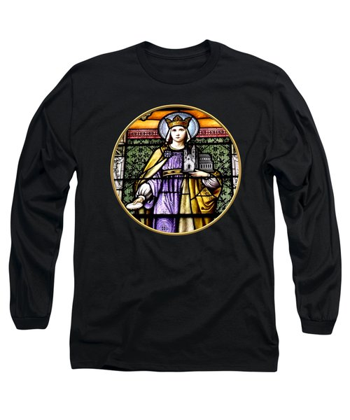 Saint Adelaide Stained Glass Window In The Round Long Sleeve T-Shirt