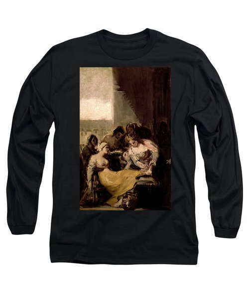Saint Isabel Of Portugal Healing The Wounds Of A Sick Woman Long Sleeve T-Shirt
