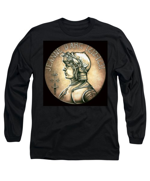 Saint Joan Of Arc Long Sleeve T-Shirt by Fred Larucci