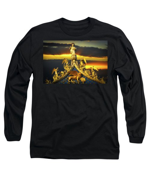 Long Sleeve T-Shirt featuring the photograph Saint Marks Basilica Facade  by Harry Spitz