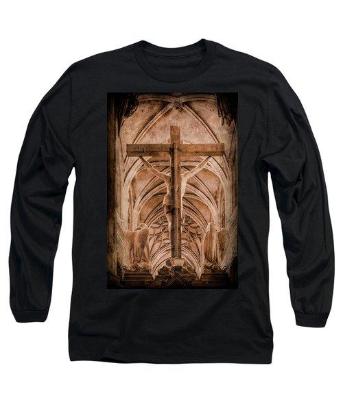 Paris, France - Saint Merri's Cross II Long Sleeve T-Shirt