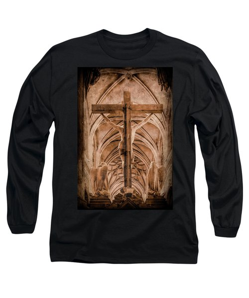 Paris, France - Saint Merri's Cross II Long Sleeve T-Shirt