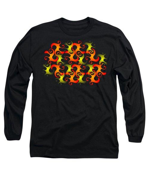 Salamanders Dream Long Sleeve T-Shirt by Anastasiya Malakhova