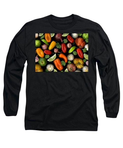 Salsa Long Sleeve T-Shirt by Christian Slanec