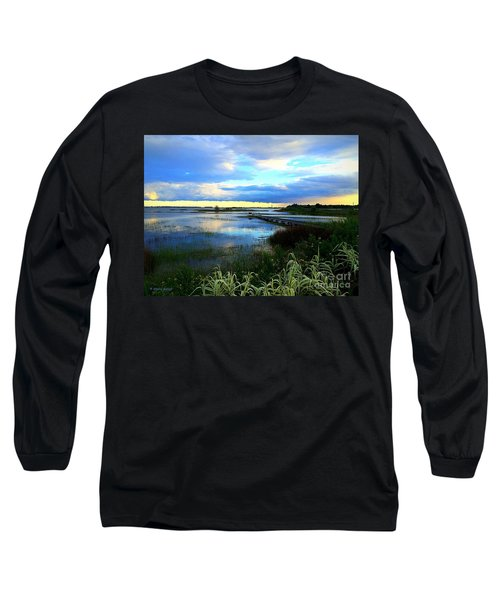 Salt Marsh Long Sleeve T-Shirt by Shelia Kempf