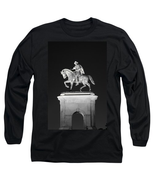 Sam Houston - Black And White Long Sleeve T-Shirt