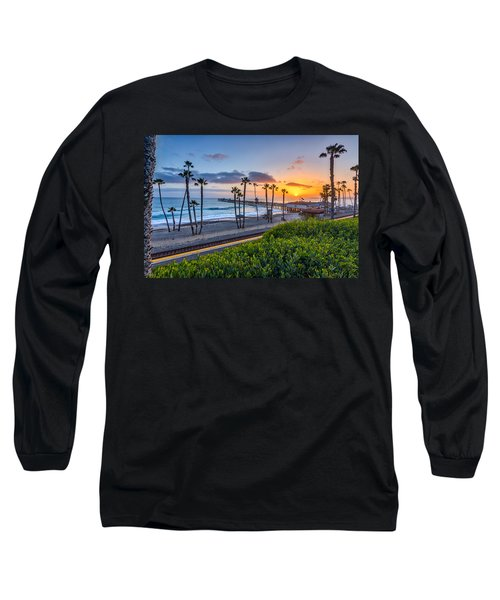 San Clemente Long Sleeve T-Shirt by Peter Tellone