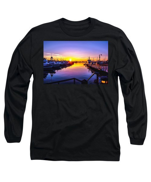 San Diego Harbor Sunrise Long Sleeve T-Shirt
