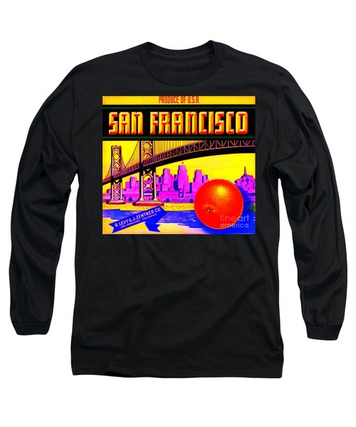 Long Sleeve T-Shirt featuring the painting San Francisco Oranges by Peter Gumaer Ogden