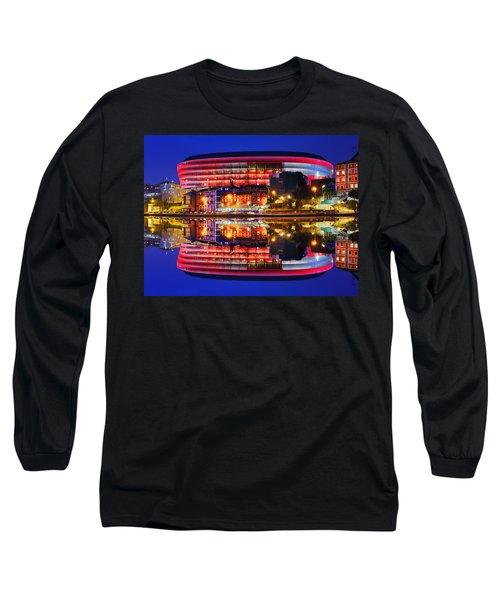 San Mames Stadium At Night With Water Reflections Long Sleeve T-Shirt