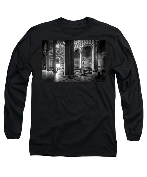 Long Sleeve T-Shirt featuring the photograph San Miniato Al Monte by Sonny Marcyan