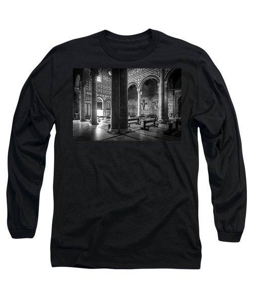 San Miniato Al Monte Long Sleeve T-Shirt by Sonny Marcyan