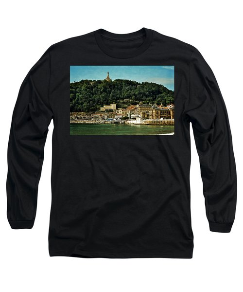 San Sebastian Spain Long Sleeve T-Shirt by Mary Machare