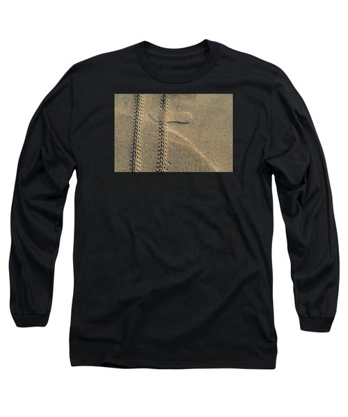 Long Sleeve T-Shirt featuring the photograph Sand Tracks  by Lyle Crump