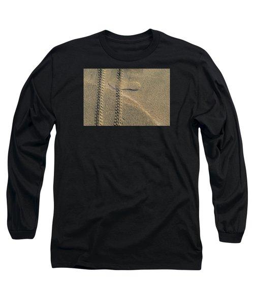 Sand Tracks  Long Sleeve T-Shirt by Lyle Crump