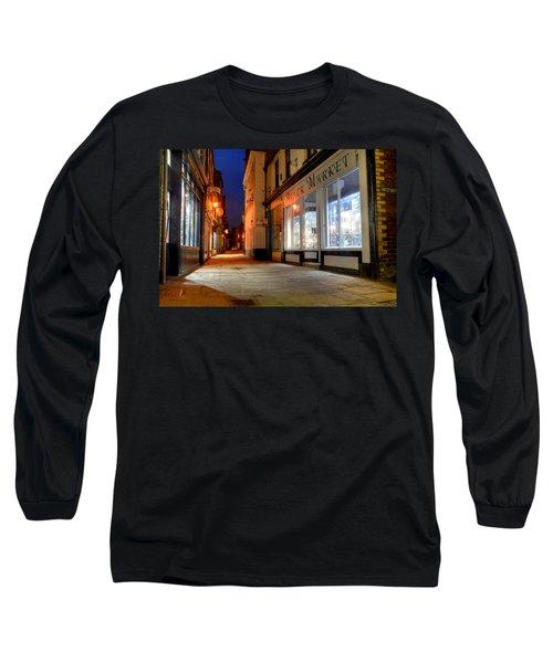 Sandgate, Whitby At Night Long Sleeve T-Shirt