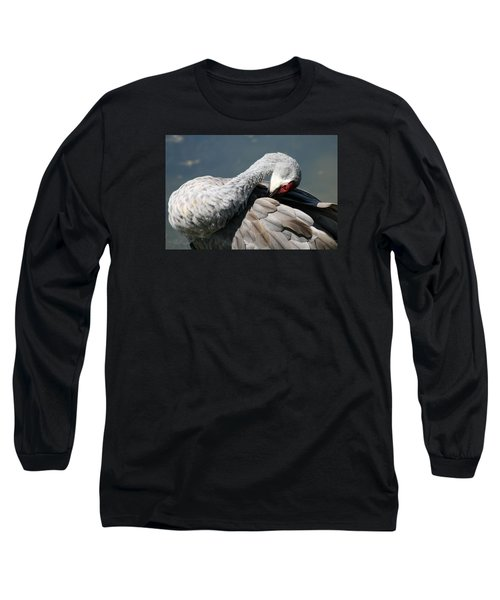 Long Sleeve T-Shirt featuring the photograph Sandhill Crane 7 by Rebecca Cozart