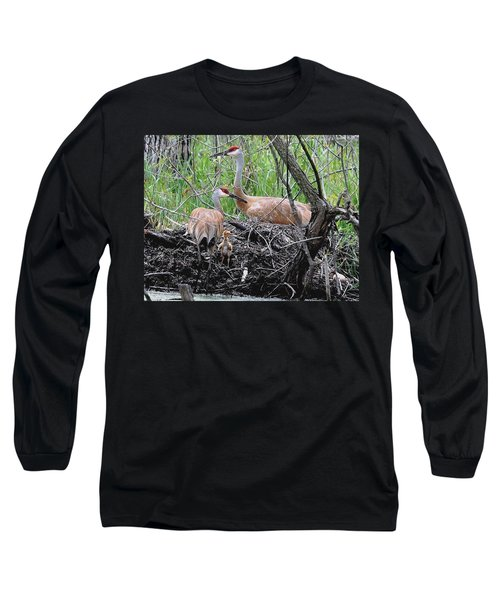 Sandhill Family  Long Sleeve T-Shirt